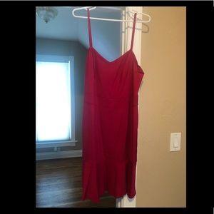 Fuchsia spaghetti strap dress